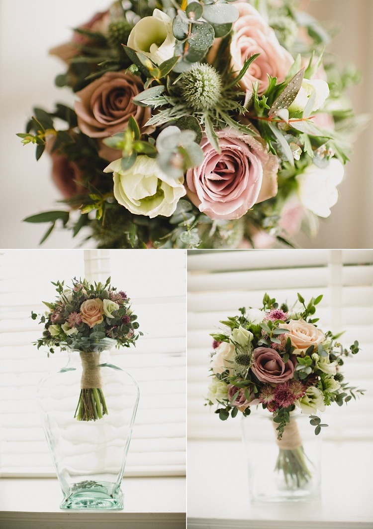 Real Weddings Bride And Bridesmaids Creative Bouquets And Flowers