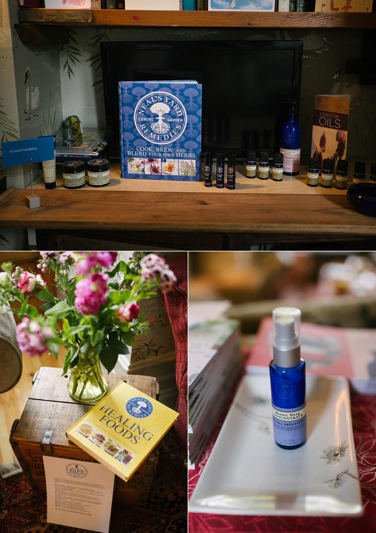 neals yard party organic beauty skincare london lily sawyer photo