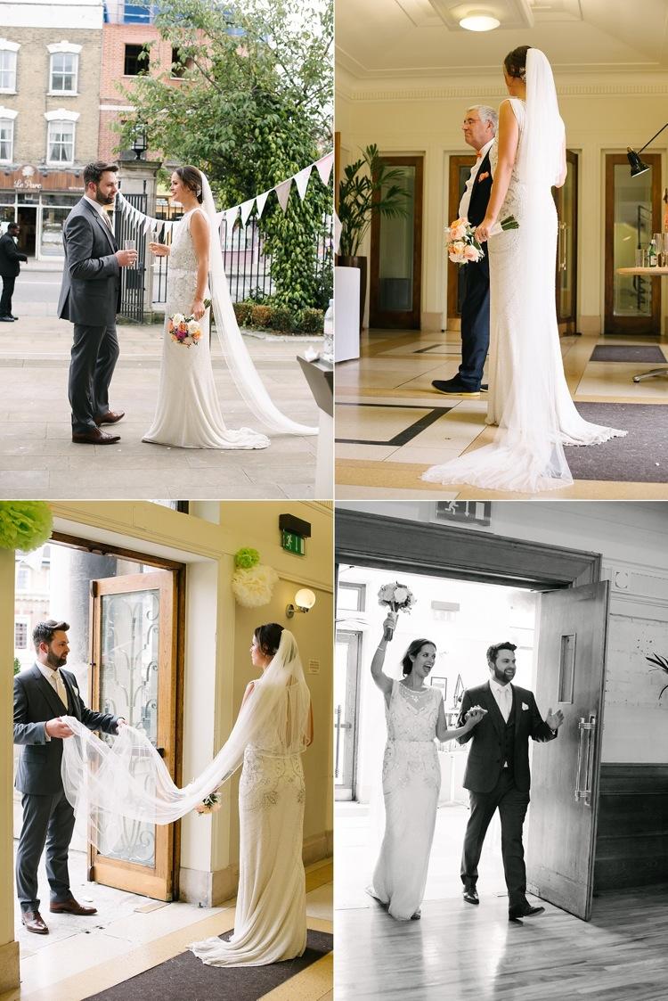 stunning 1920s vintage wedding stoke newington town hall classic timeless london lily sawyer photo