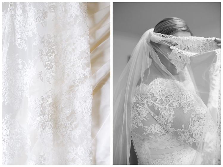 Vintage bride lace veil