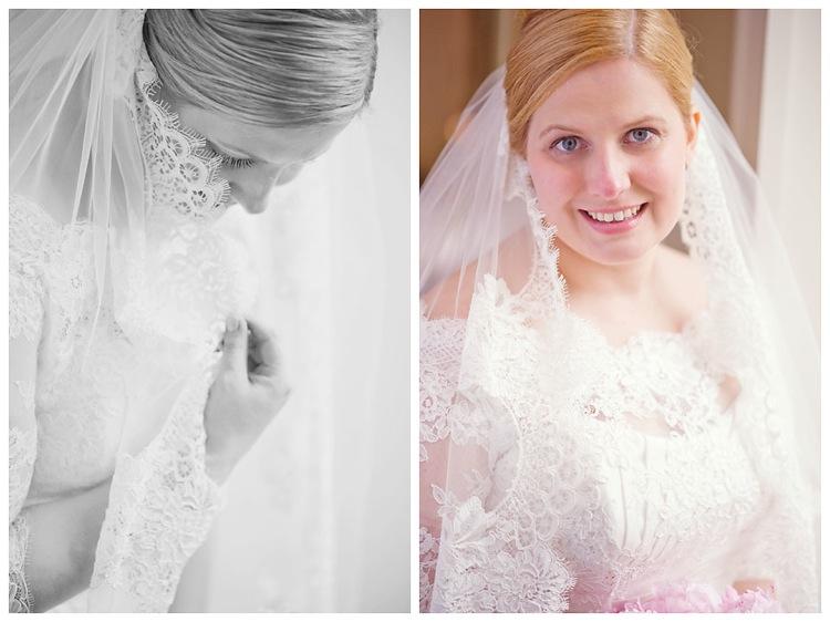 Vintage bride veil