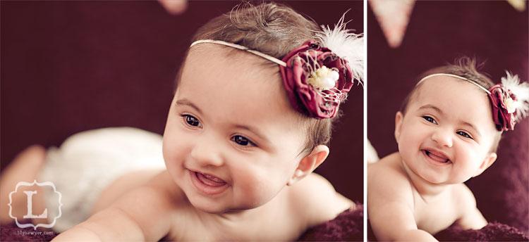 stunning baby vintage portrait