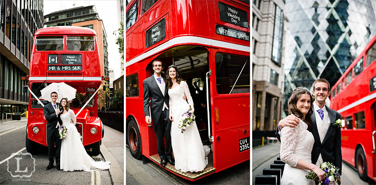 Bride groom bus