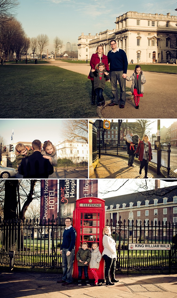 Family photoshoot in Greenwich