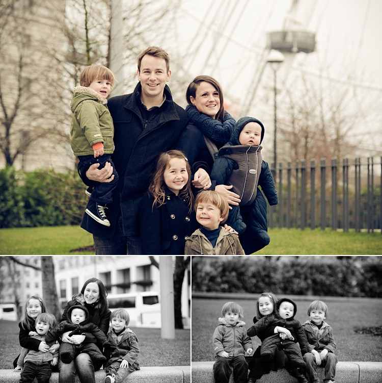 family photoshoot london eye photo