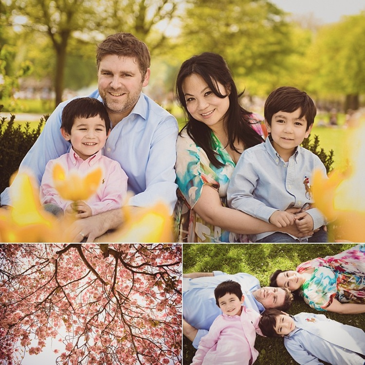 cherry blossom spring family shoot victoria park london photo