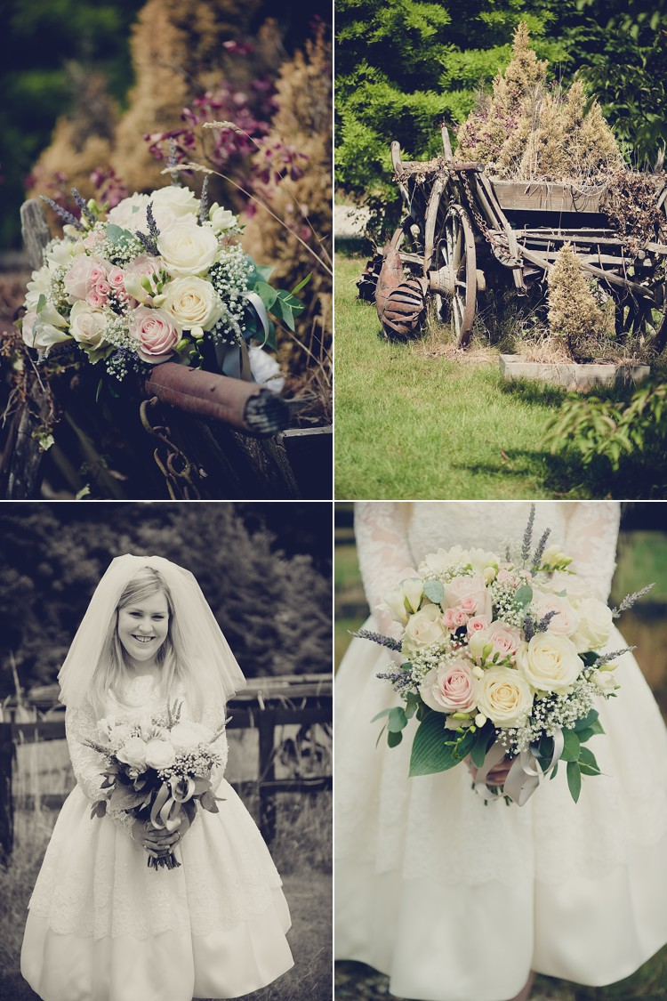 Vintage English country DIY wedding North hill Farm Herts London lily sawyer photo