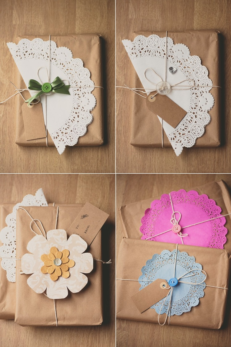 creative simple christmas button cards gift wrapping lily sawyer photo