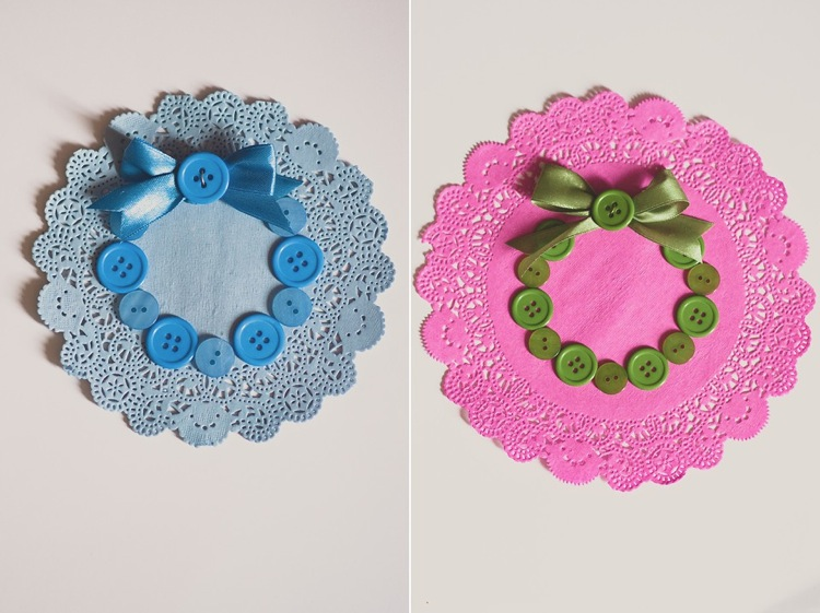 creative simple christmas button doily cards gift wrapping lily sawyer photo