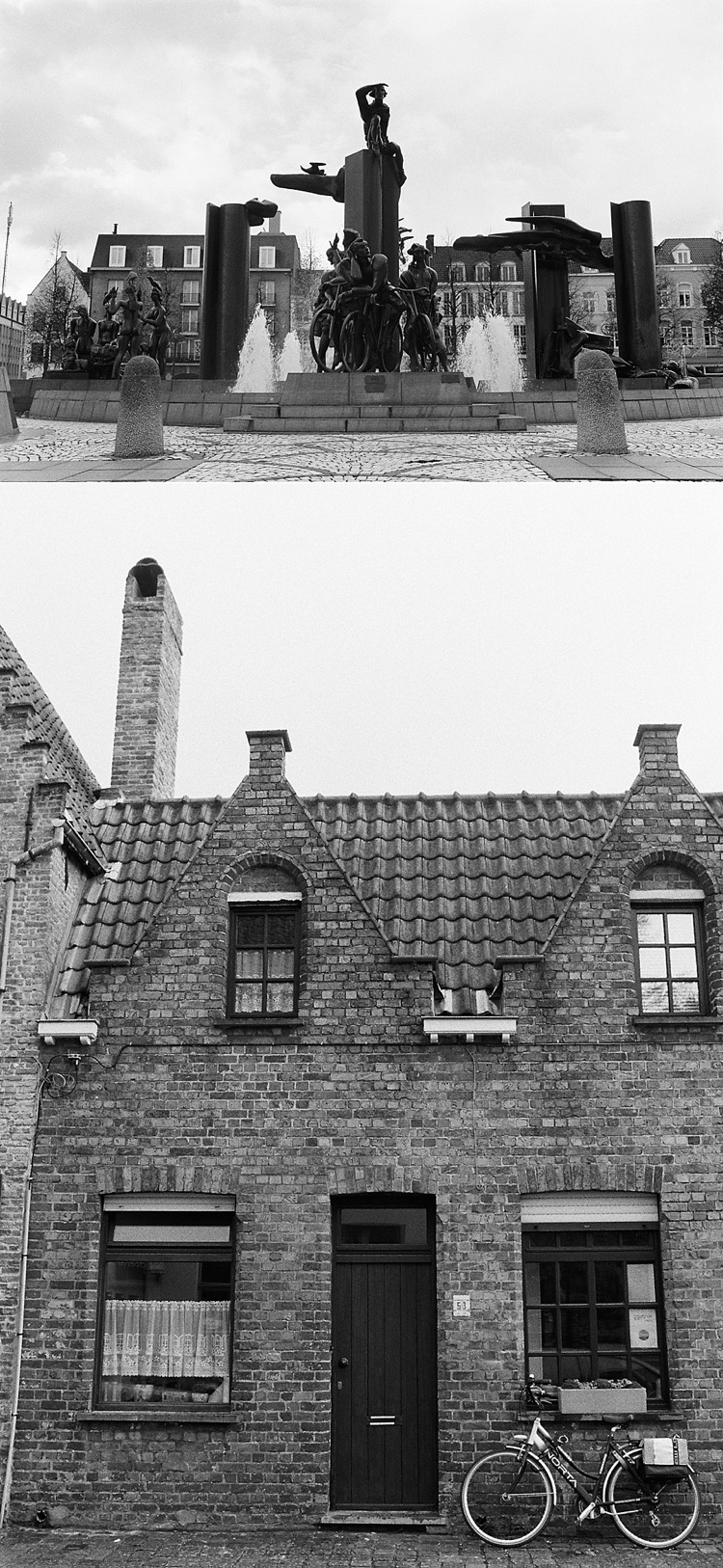 bruges kodak tri-x 400 black and white film travel photography london lily sawyer photo