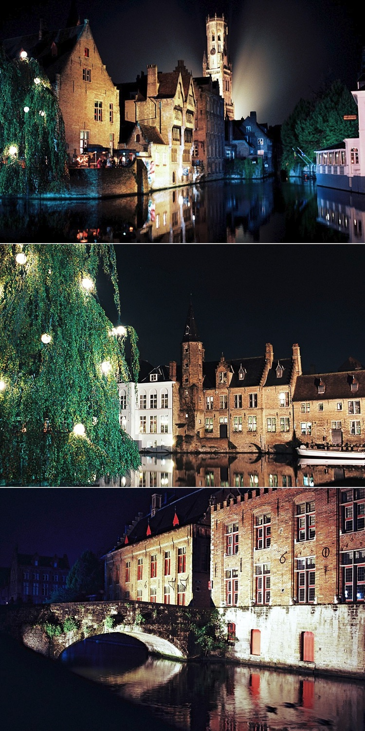 kodak ektar 100 film bruges travel night photography lily sawyer photo