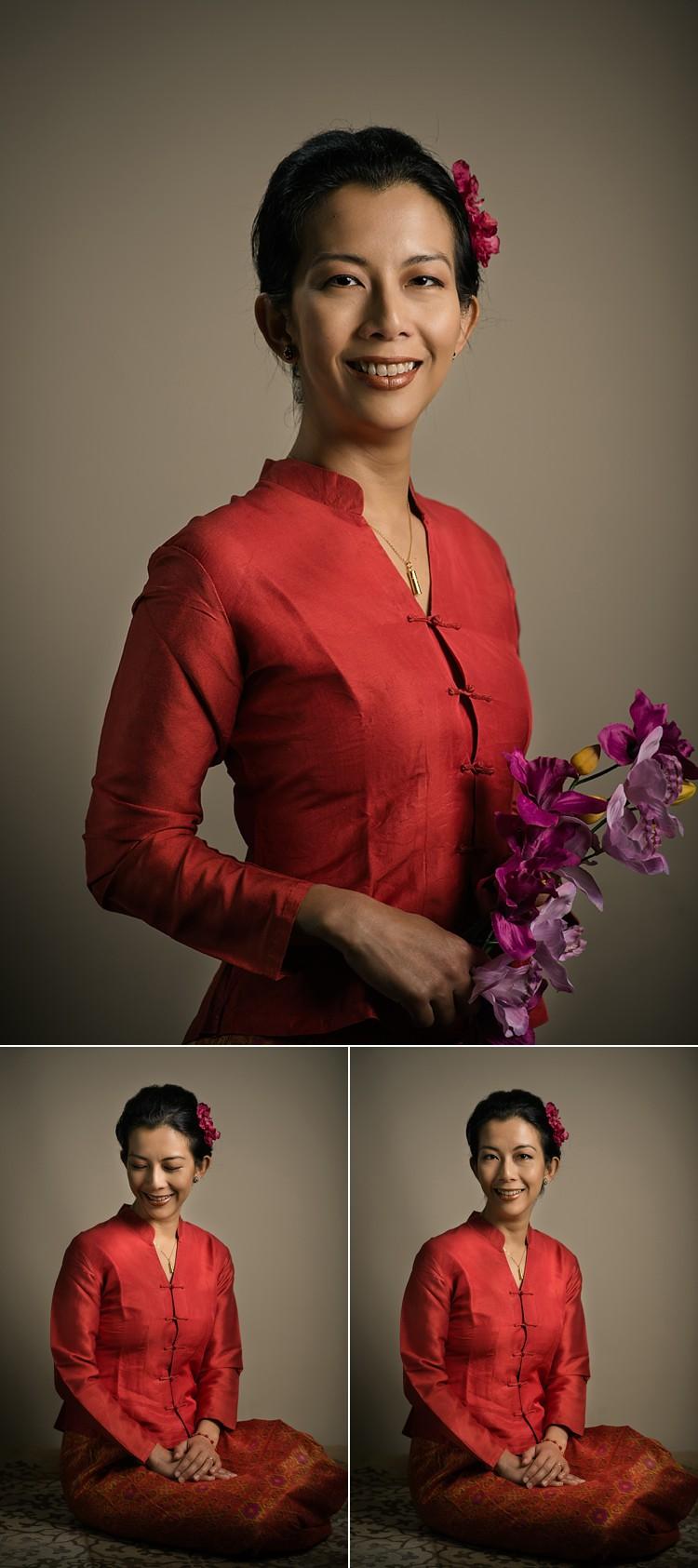 traditional dramatic classic portrait photoshoot burmese traditional dress london studio L lily sawyer photo.jpg
