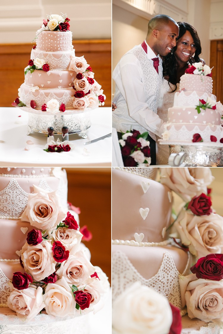 classic vintage wedding St. George's Cathedral Southwark Stoke Newington Town Hall vintage cake London Lily Sawyer photo