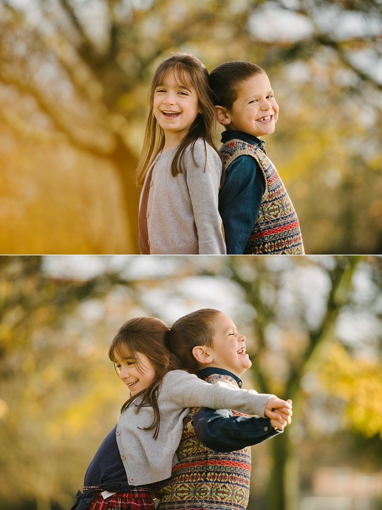 family photoshoot autumn golden leaves west ham park london  lily sawyer photo