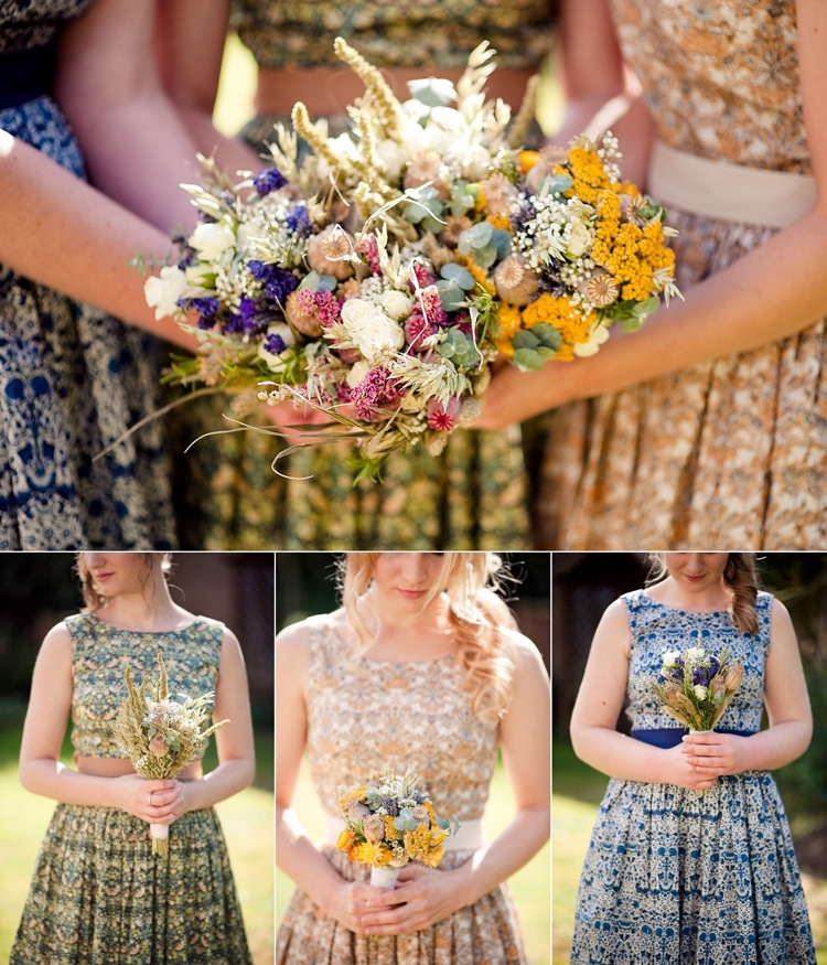 bride bridesmaid hand-tied bouquet real wedding london photographer.jpg