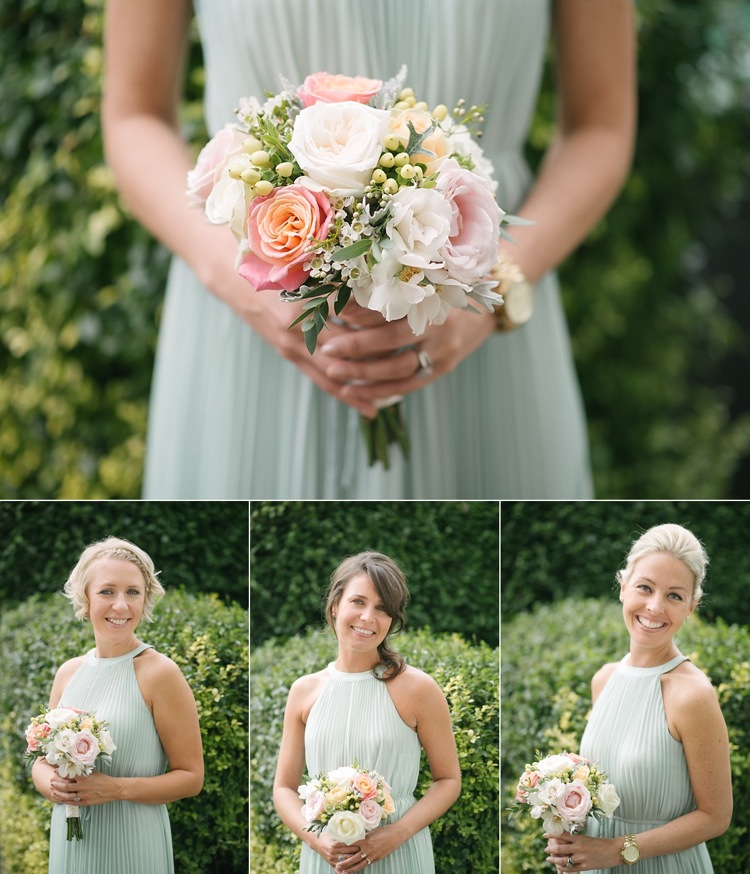bride bridesmaid posy bouquet real wedding london photographer.jpg