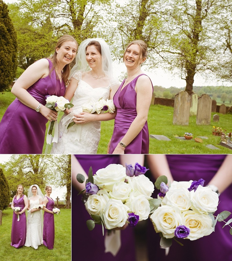bride bridesmaid presentation bouquet real wedding london photographer.jpg