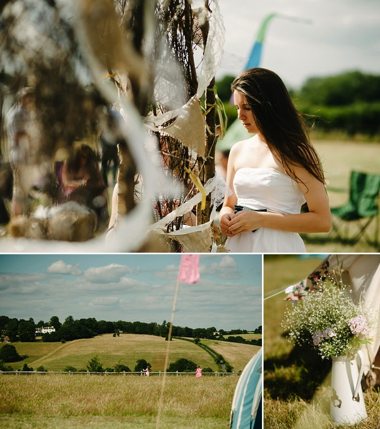 london wedding photographer buckinghamshire chorleywood north hill farm tipi tipee wedding hand fasting ceremony country field lily sawyer photo