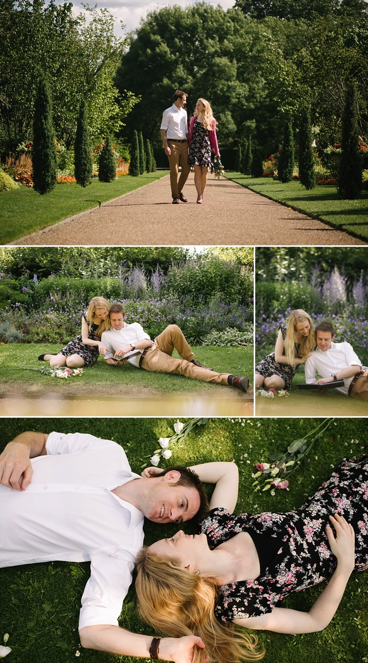 london regent's park i heart london engagement photoshoot classic chic country natural style lily sawyer photo