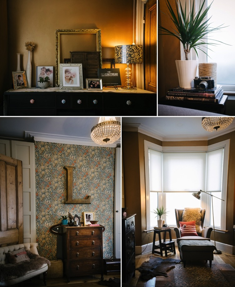 east london, interior design, dark, warm, cosy, eclectic, mismatched, interesting, cohesive, gold, midnight blue, crystals, ikea, vintage, sheepskin, lily sawyer photo.jpg
