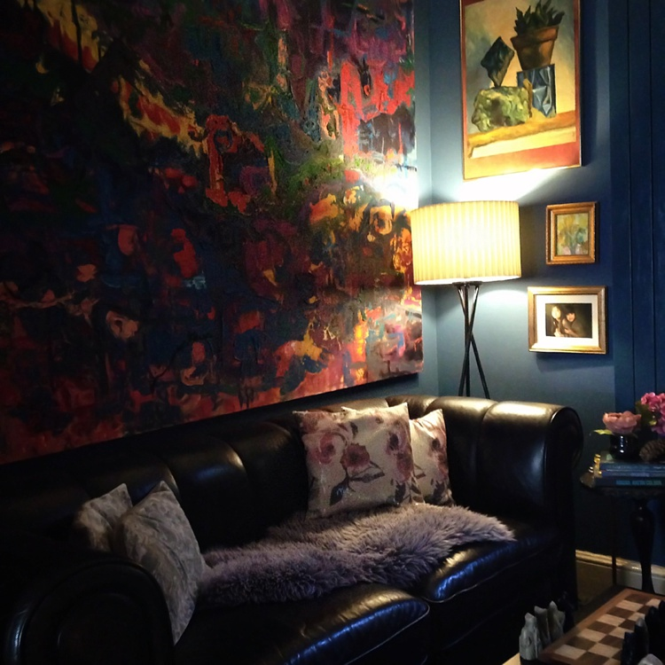 interior design victorian home eclectic dark walls london lily sawyer photo