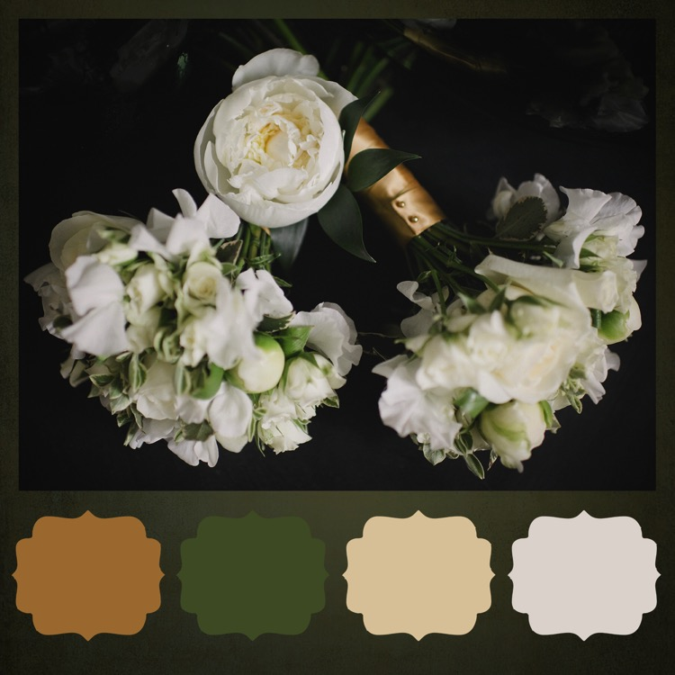 Wedding flowers color palette bouquets london fine art photographer lily sawyer photo  51