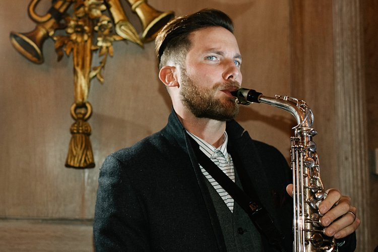 London wedding photographer saxophonist brendan mills lily sawyer photo 0000