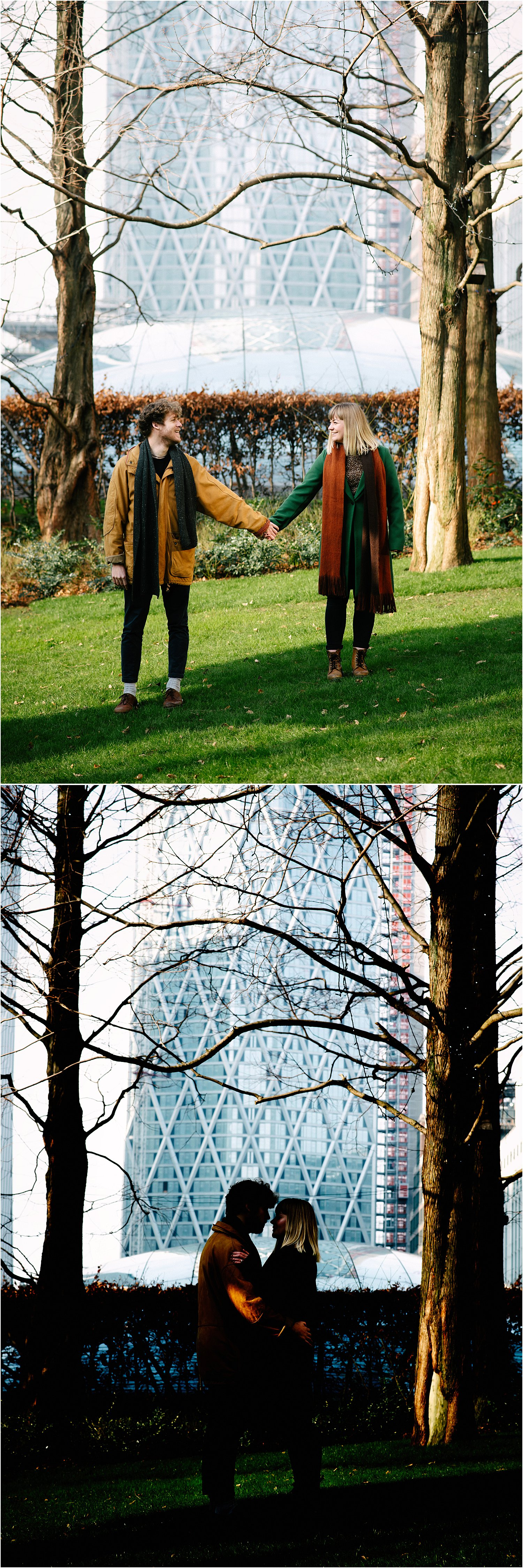 canary-wharf-london-engagement-session-tom-phebe-lily-sawyer-photo