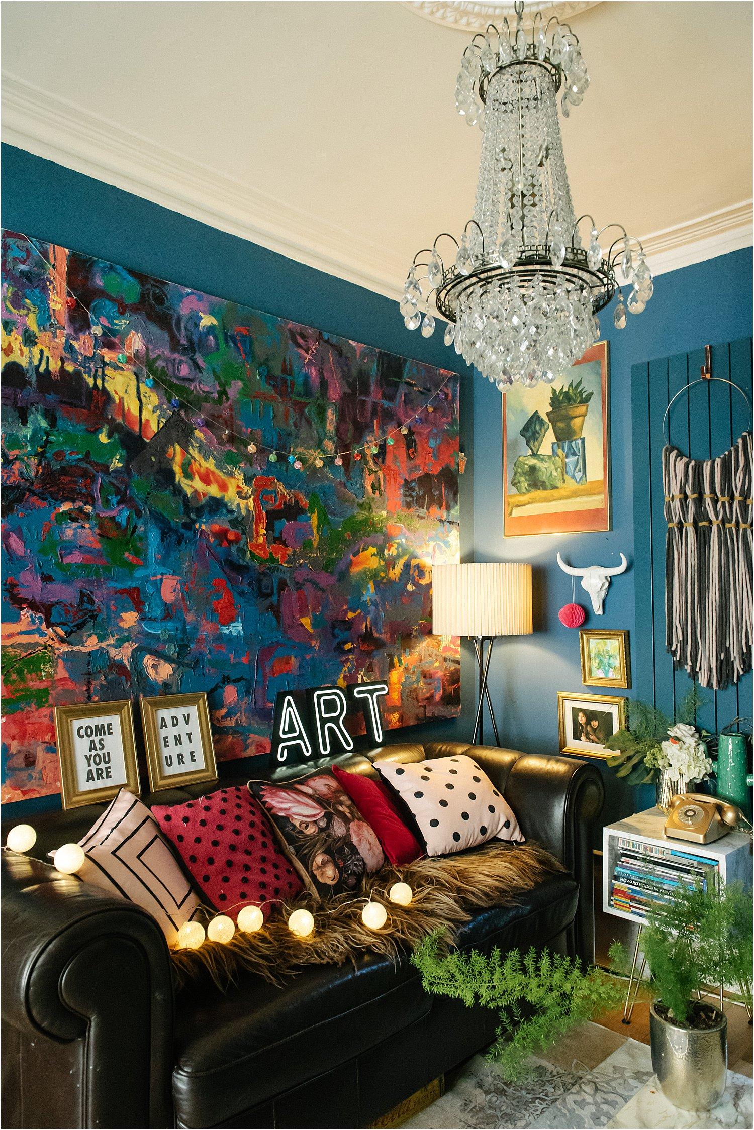dark-maximalist-eclectic-contemporary-vintage-retro-velvet-sofa-lily-sawyer
