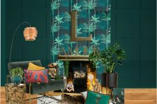 gentlemans-club-interiors-dark-green-room-maximalist-eclectic-lily-sawyer-layered-home-interiors