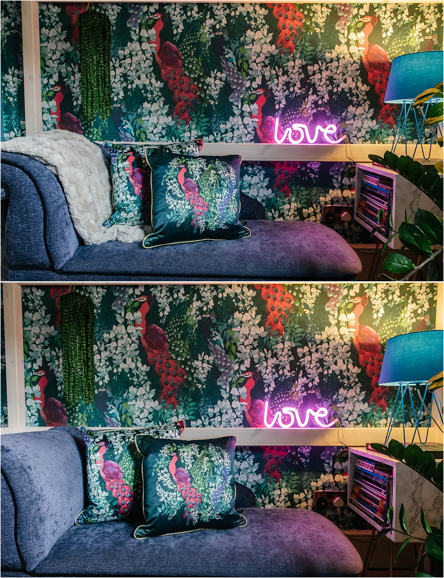 blue-maximalist-bedroom-how-to-design-create-maximalism-yet-uncluttered-space