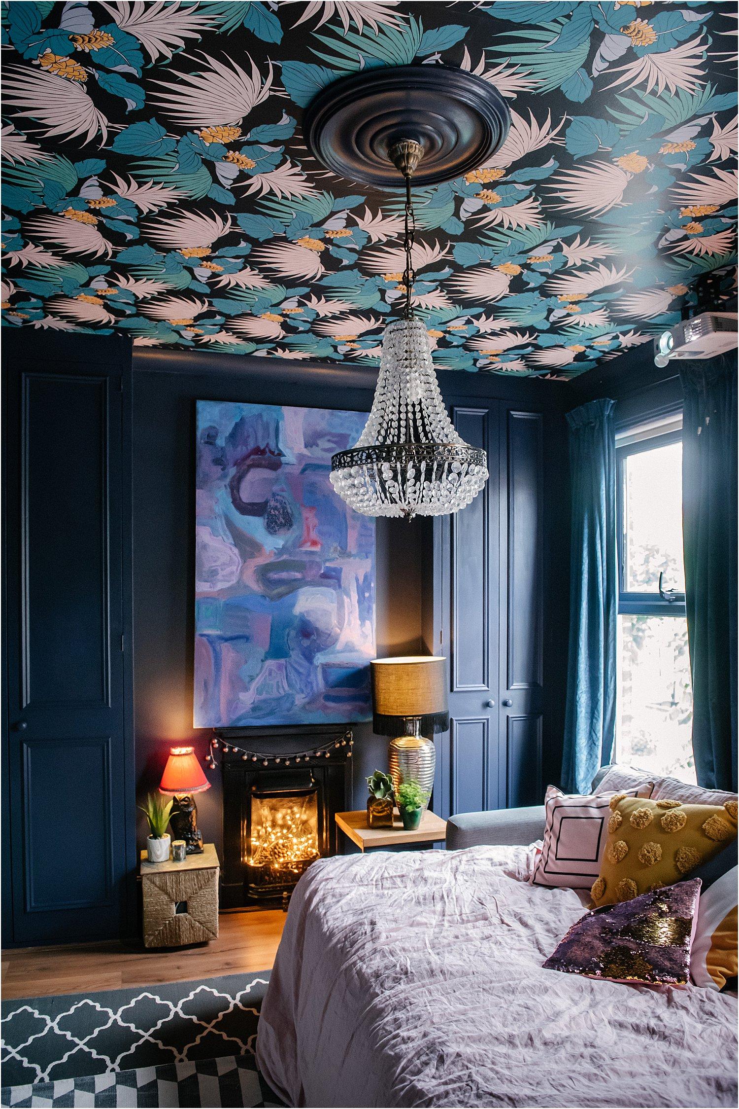 dark-blue-green-maximalist-interior-design-wallpaper-moody-layered-home