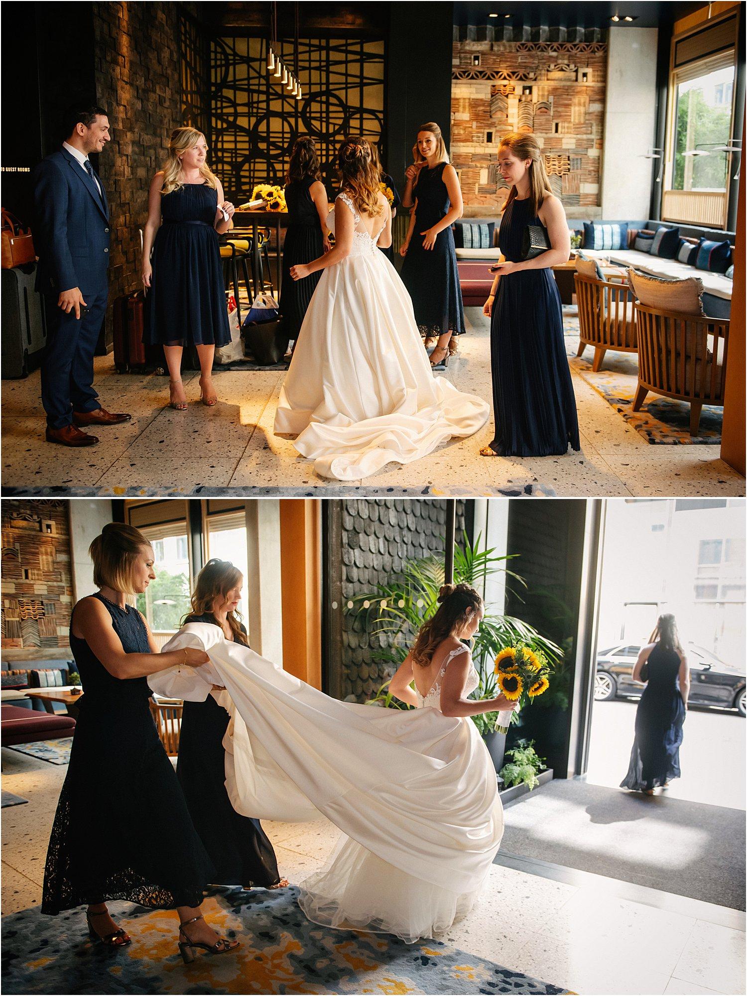 wilton-music-hall-wedding-blue-sunflowers-cupcakes-lily-sawyer-photography
